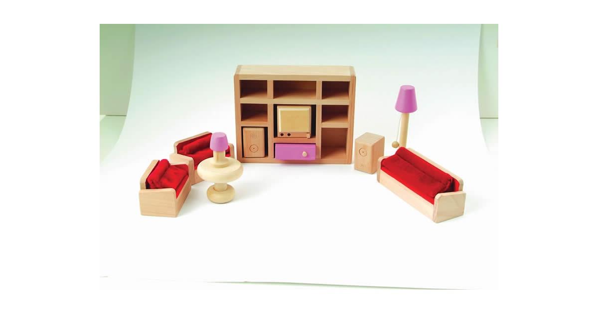Kalusteita kaikkiin kodin tiloihin: eteinen, makuuhuone, lastenhuone.